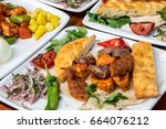 photos of the regional cuisine... | Shutterstock . vector #664076212