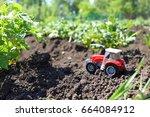 Children's Tractor In A Potato...