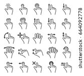 gesture icons set for mobile... | Shutterstock .eps vector #664092778