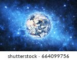 earth. view from space.... | Shutterstock . vector #664099756