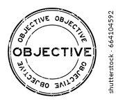 grunge black  objective round... | Shutterstock .eps vector #664104592