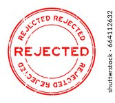 grunge red rejected round... | Shutterstock .eps vector #664112632