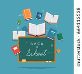 'back to school' concept vector ... | Shutterstock .eps vector #664113538