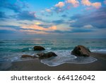 Natural Beach With Rocks....