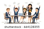 creating success a business.... | Shutterstock .eps vector #664128355