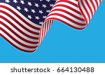 waving on the wind american... | Shutterstock .eps vector #664130488