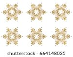 christmas stylized golden... | Shutterstock . vector #664148035