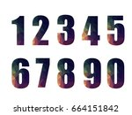 number geometric design on... | Shutterstock .eps vector #664151842