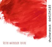 bloody red vector watercolor... | Shutterstock .eps vector #664154185