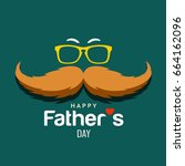 happy father's day brown... | Shutterstock .eps vector #664162096
