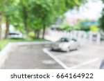 car parking in the park.... | Shutterstock . vector #664164922