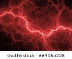 red plasma  hot plasma...   Shutterstock . vector #664165228