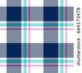 plaid seamless pattern vector | Shutterstock .eps vector #664173478