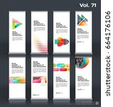 abstract business vector set of ... | Shutterstock .eps vector #664176106