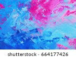 abstract oil paint texture on...   Shutterstock . vector #664177426