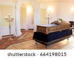 funeral and mourning concept  ... | Shutterstock . vector #664198015