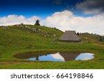 slovenia  julian alps  velika... | Shutterstock . vector #664198846