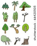 cartoon tree   Shutterstock .eps vector #66420505
