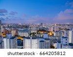 public residential condominium... | Shutterstock . vector #664205812