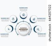 business timeline infographics... | Shutterstock .eps vector #664207522
