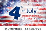 usa 4 july independence day... | Shutterstock . vector #664207996