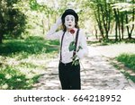 Emotional Male Mime Artist Wit...
