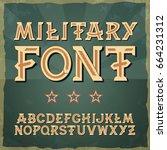 retro type font  vintage... | Shutterstock .eps vector #664231312