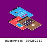 vector isometric mobile app ui...