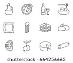 set of italian food  cuisine... | Shutterstock .eps vector #664256662