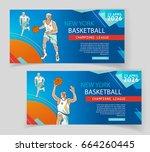 basketball flyer   poster cover ... | Shutterstock .eps vector #664260445