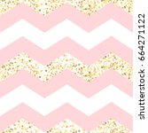 vector seamless pink and white... | Shutterstock .eps vector #664271122