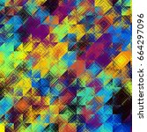 square grunge texture.... | Shutterstock . vector #664297096