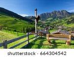 the village of inneralpbach in...   Shutterstock . vector #664304542