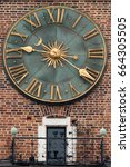 the clock of old tower in krakow