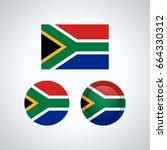 flag design. south african flag ...   Shutterstock .eps vector #664330312