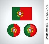 flag design. portuguese flag... | Shutterstock .eps vector #664332778