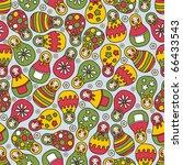 matreshka doll seamless pattern.... | Shutterstock .eps vector #66433543
