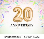 20 anniversary celebration with ... | Shutterstock . vector #664344622