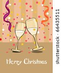 champagne. merry christmas | Shutterstock .eps vector #66435511