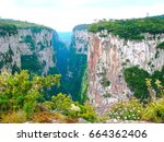 Small photo of Spectacular Canyon. The biggest canyon separetes two states in southern Brazil. It's inside the Parque Nacional dos Aparados da Serra. Nearly 6 miles long and a mile deep.
