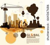 global warming  | Shutterstock .eps vector #664367686