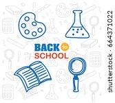 school elements vector... | Shutterstock .eps vector #664371022