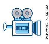 old cinema camcorder | Shutterstock .eps vector #664373665