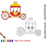 picture to be colored  the... | Shutterstock .eps vector #664394236