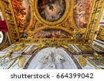 the famous palace of versailles ... | Shutterstock . vector #664399042