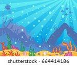 vector cartoon sea background....