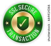 gold ssl secure transaction... | Shutterstock .eps vector #664414366