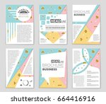 abstract vector layout... | Shutterstock .eps vector #664416916