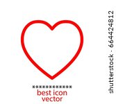 heart icon stock vector... | Shutterstock .eps vector #664424812