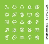 nature icon pack | Shutterstock .eps vector #664427626